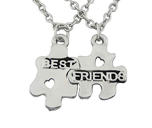 Hanessa Meisjessieraad 2 vriendschapskettingen met Best Friends puzzel hanger cadeau voor Kerstmis voor de beste vriendin/vrouw
