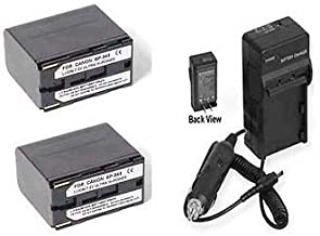 2 Batteries + Charger for Canon EOS C100, Canon EOS C500, Canon EOS C500PL