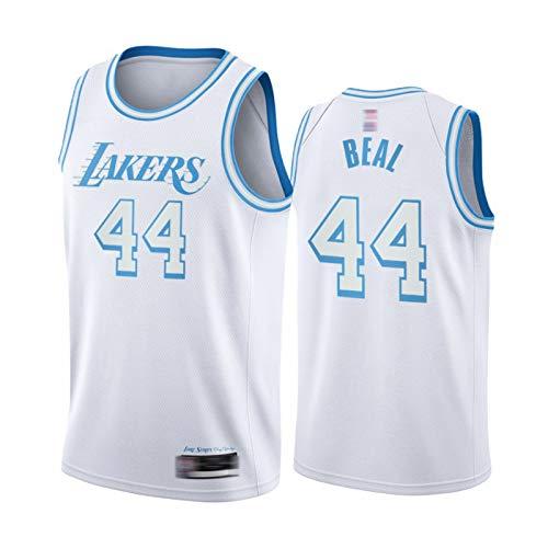 XXJJ Lakers Bradlěy Beal - Camiseta de baloncesto para hombre, 44 White 2020-21 City Edition (S-XXL), secado rápido, sin mangas, de malla, talla M