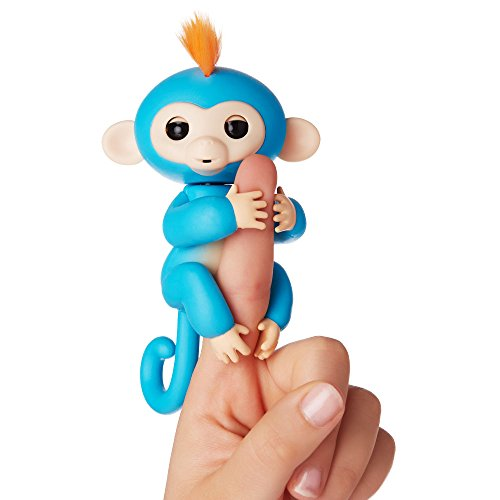 WowWee Fingerlings Interactivo bebé mono, Azul (3703-WS)