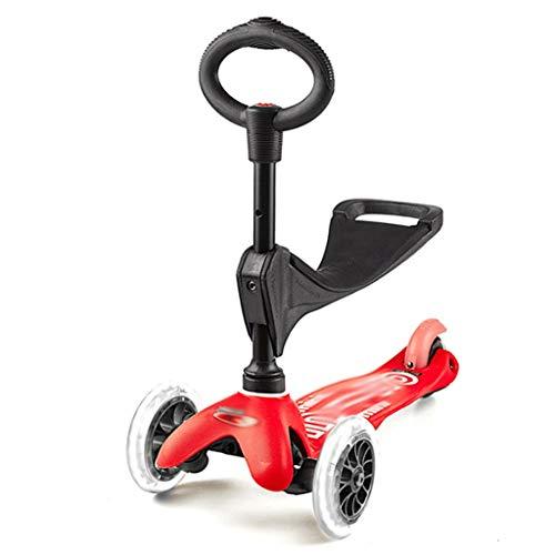 LZL Roller für Kinder DREI-In-One-Kinder-Roller-Roller, Deluxe-3-Rad-Roller für Anfänger-verstellbare...