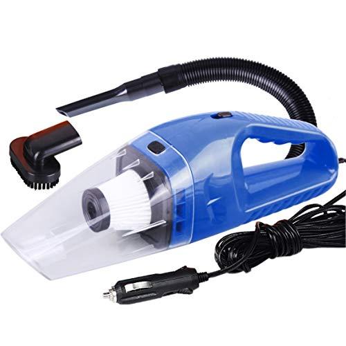 Logicstring Aspirador Portátil De Mano para Automóvil con Súper Succión, De Doble Uso, De 12 V Y 120 W De Potencia, Filtro Hepa Desmontable (Azul)