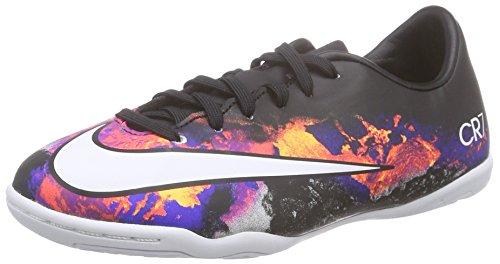 Nike Kids Mercurial Victory V CR Indoor Soccer Shoes Black/White/Total Crimson Shoes - 10.5C