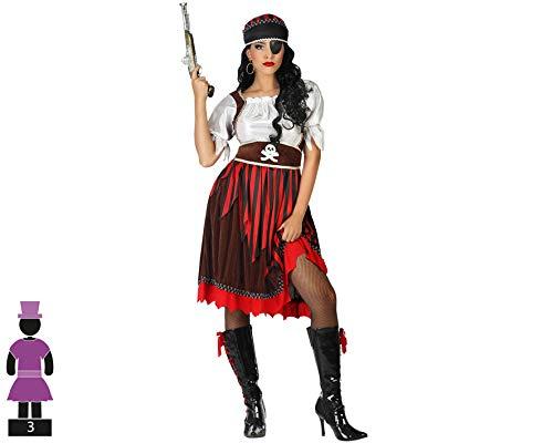 ATOSA disfraz pirata mujer adulto rojo M