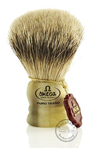 Omega Short Silvertip Badger Shaving Brush