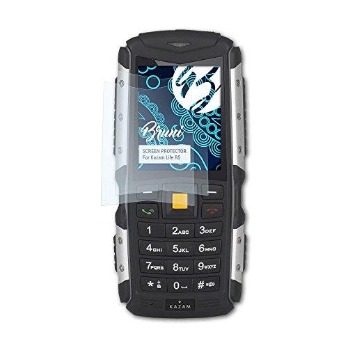 Bruni Schutzfolie kompatibel mit Kazam Life R5 Folie, glasklare Bildschirmschutzfolie (2X)