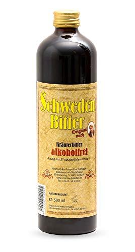 Naturprodukte Europa - Schwedenbitter ohne Alkohol 500ml – nach Rezepturen von Maria Treben (1907-1991) alkoholfrei & vegan - Schwedenkräuter Bitterstoffe – Kräuterbitter