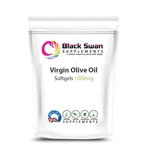 Black Swan Virgin Olive Oil 1000mg softgels – with Anti-oxidant and Anti-inflammatory Properties – Healthy Skin – Nervous System (30 caps)