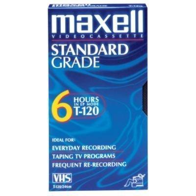 Buy Bargain Maxell T120GX/5PK VHS Cassette Standard Grade T-120, 6 Hour 5-Pack