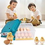 TTLIFE Incubatrice per uova, doppia incubatrice elettrica automatica per 16 uova, piccoli boccaporti per pollame con rotazione automatica del controllo della temperatura, incubatrice automatica