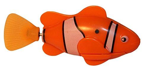 rukauf Robo-Fisch Clownfisch Orange mit lebensechten Schwimm-Bewegungen