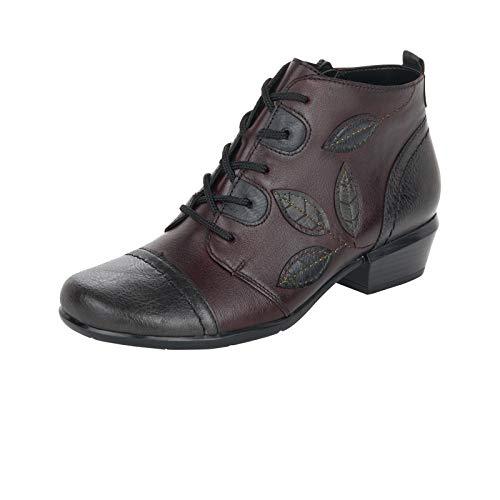 Remonte Damen Stiefeletten, Frauen Ankle Boots, reißverschluss Freizeit leger Stiefel halbstiefel Bootie,Rot(fumo),39 EU / 6 UK