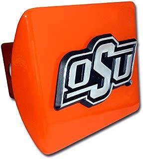 "Elektroplate Oklahoma State University ""OSU"" Orange Metal Trailer Hitch Cover Fits 2 Inch Auto Car Truck Receiver"