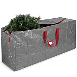 "PROTECT AND SECURE - Xmas tree bags protect and shield Christmas trees from damages, dust, moisture, and pests; so it's always ready to show off. DIMENSIONS 48"" x 15"" x 20"" MOISTURE RESISTANT - This artificial tree storage bag is made from waterproof..."