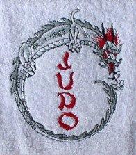 Handdoek met borduurwerk Judo en draak