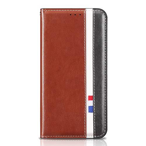 Tosim Huawei [Mate 20 Lite] Hülle Klappbar Leder, Brieftasche Handyhülle Klapphülle mit Kartenhalter Stossfest Lederhülle für Huawei Mate 20Lite - TORXZ010328 Braun