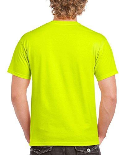 Gildan Men's G2000 Ultra Cotton Adult T-shirt, Safety Green, XXX-Large