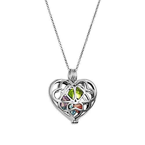 Sterling Silver Personalized Birthstone Heart Locket