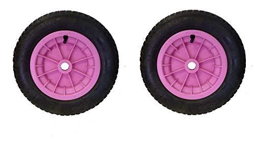 Dtkh Reifen für Schubkarren, 35,6 cm (14 Zoll), Rosa, 2 Stück