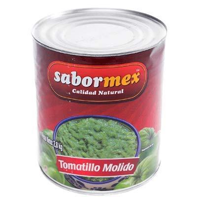 SABORMEX Tomatillo Verde Molido 2,8 kg Miltomate Mexicano en Lata Grande Tomate Verde para cocina tradicional mexicana Tomate Verde Triturado en Conserva
