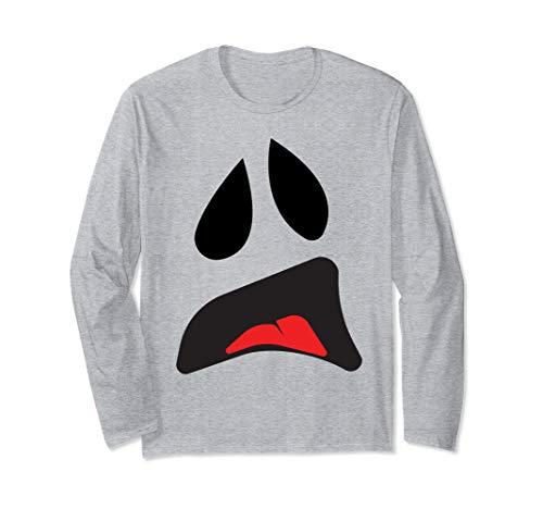 Big Ghost Face - Einfache Paare Halloween-Kostüm Idee Langarmshirt