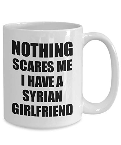 Betsy34Sophia Syrische Freundin Becher lustige f¨¹r Bf Mein Freund ihn Syrien Gf Gag Nichts Macht Mir Angst Kaffee Tee Tasse