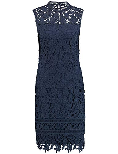 Taifun Damen 381073-16526 Kleid, Blau (Taubenblau 80204), (Herstellergröße: 44)
