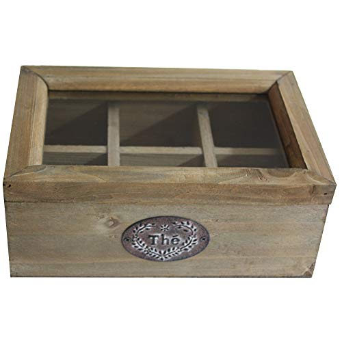 Antic Line Boîte à Thé en Bois Vintage
