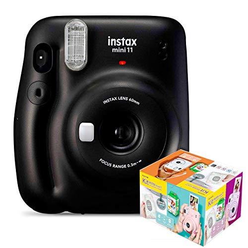 Fujifilm Instax Mini 11 Gris Carbón Cámara Instantánea Kit Mr. Wonderful