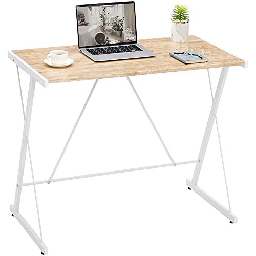 Aingoo Small Computer Desk PC Desk Office Desk Laptop Desk Writing Desk Computer Desk for Small Spaces Oak