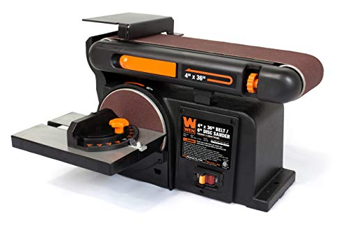 Product Image of the WEN 6502T 4.3-Amp 4 x 36 in. Belt and 6 in. Disc Sander with Cast Iron Base