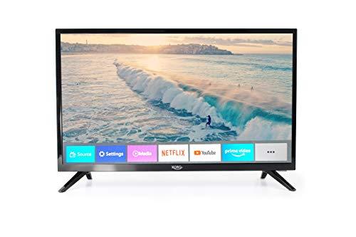 Xoro HTL 2476 60 cm (23.6 Zoll) SmartTV HD Fernseher mit integriertem HD Triple Tuner (DVB-S2/T2/C), H.265/HEVC-Decoder und Mediaplayer