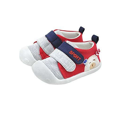 DEBAIJIA Lauflernschuhe Babyschuhe 1-2 Jahre Kinder Schuhe Kleinkind Jungen Mädchen Weiche Sohle rutschfeste Baumwolle Atmungsaktiv Leichte Slip-on Turnschuhe Draussen