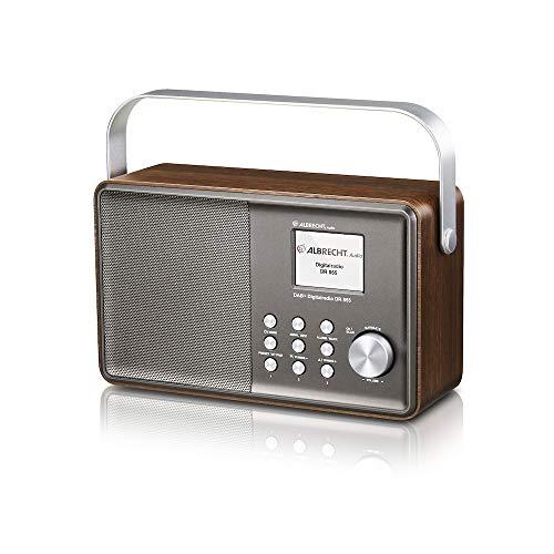 Albrecht DR855 DAB+/UKW/Bluetooth Henkelradio im Retrostil, 27855, inkl. Farbdisplay, Akkulaufzeit bis zu 11 Stunden