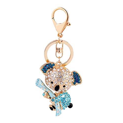 YeahiBaby Creative Porte-clés Cadeaux Femme Sac Pendentif Porte-clés Petite Fille Koala Porte-clés Sac Pendentif (Bleu)