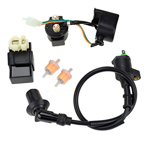 HIAORS 6PIN AC CDI Ignition Coil Relay Fuel Filters for Tomberlin Crossfire 150R Spiderbox 150cc Go karts Parts GY6 150cc Engine Scooter Moped GTS American Sportworks 150