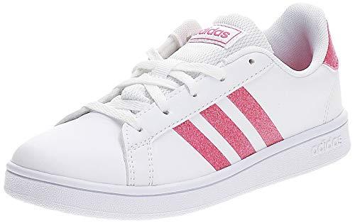 adidas Grand Court Sneaker, Cloud White/Real Pink/Cloud White, 30 EU