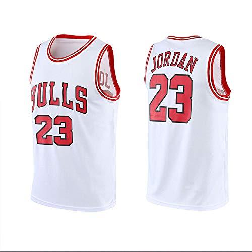 Dybory Camisetas De Baloncesto para Hombre De La NBA Michael Jordan # 23, Chaleco Sin Mangas De Baloncesto De Los Chicago Bulls, Camiseta Clásica para Gimnasio,Blanco,XL