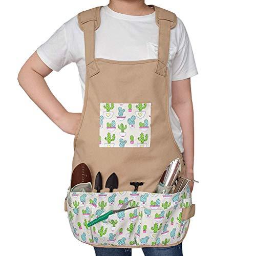 Mankoo Gartenschürze, Arbeitsschürze Mit Taschen, Gärtnerschürze Baumwolle, Größe: 23,6 X 23,6 Zoll