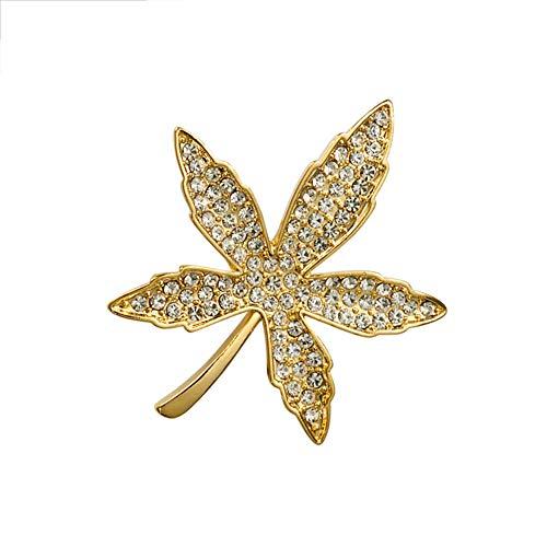 Maple Leaf Broche Pins Crystal Maple Leaf corsage voor Vrouwen Mannen Gold/Silver
