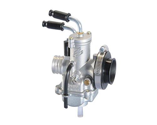 POLINI Carburateur CP 19 mm avec bride enfichable et adaptateur de filtre à air pour REX (Jinan Qingqi) Scooter 50/Rexy 2T, Yamaha Aerox 50