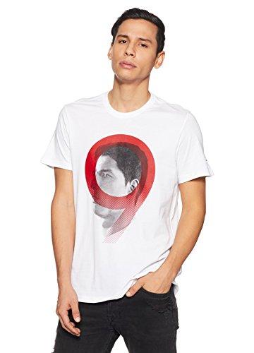 adidas Camiseta Línea Luis Suarez, Hombre, Blanco, L