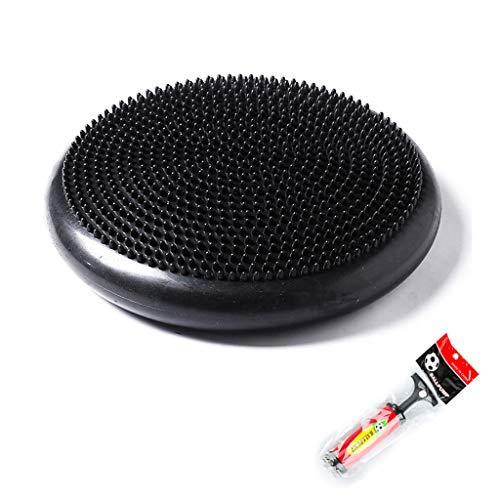 Cajolg Air Stability Balance Disc Wobble-Kissen, für Yoga-Workout, Fitness und Training, mit Luftpumpe, Durchmesser 34 cm Wiggle Balance Sitzpolster,E