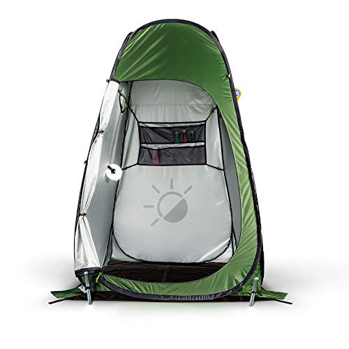 Ikigai Pop Up Privacy Tent - Portable Shower Tent for Camping, Beach & Hiking, Spacious Toilet & Bathroom Shelter Outdoor Changing Room Extra Tall