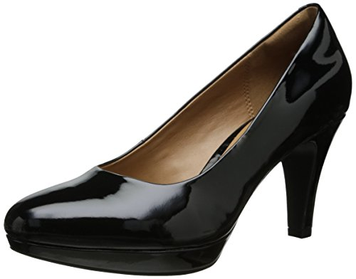Clarks Women's Brier Dolly, Black Synthetic, 12 M US