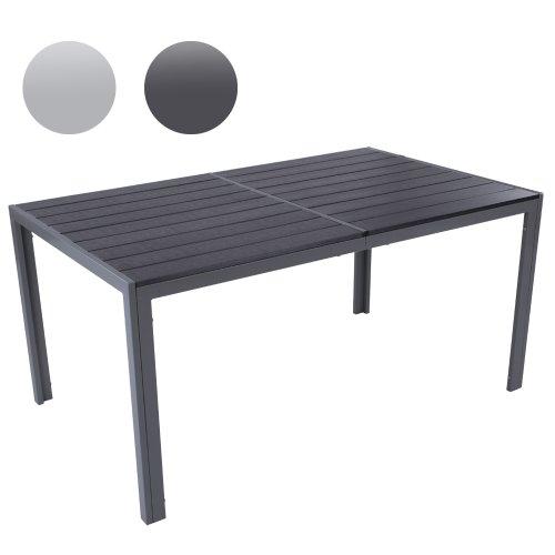MIADOMODO – Mesa de jardín 150 x 90 x 72 cm Gris Oscuro