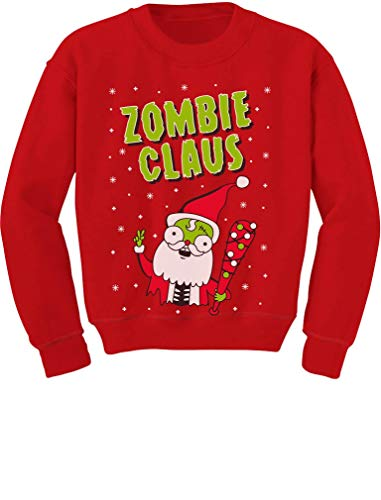 Tstars - Zombie Santa Claus Ugly Christmas Boys Toddler/Kids Sweatshirt 4T Red