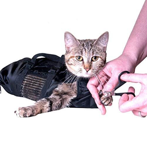 Verzorgingstas voor katten, waszak voor het wassen van kattenverzorging, voor huisdieren, Urisgo Pet Cats, nettas voor huisdieren met ritssluiting voor douche, reiniging van oren, stroomvoorziening