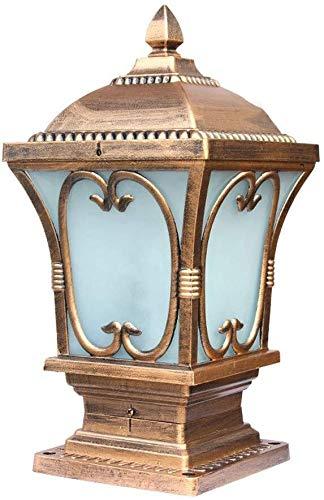J-Säule Lampe Pfostenlichter Wasserdicht IP54 Pfosten Lichter Rasen-Lampe Aluminium Rostende Spalte Pfad Lampen Außenwandsäule Beleuchtung Garten Villa Laterne Wegbeleuchtung
