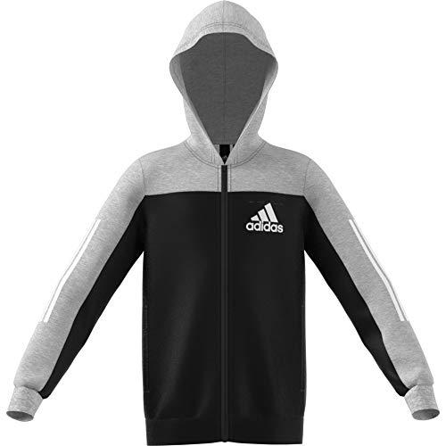 adidas Performance Sport ID Kapuzenjacke Kinder grau/schwarz, 140